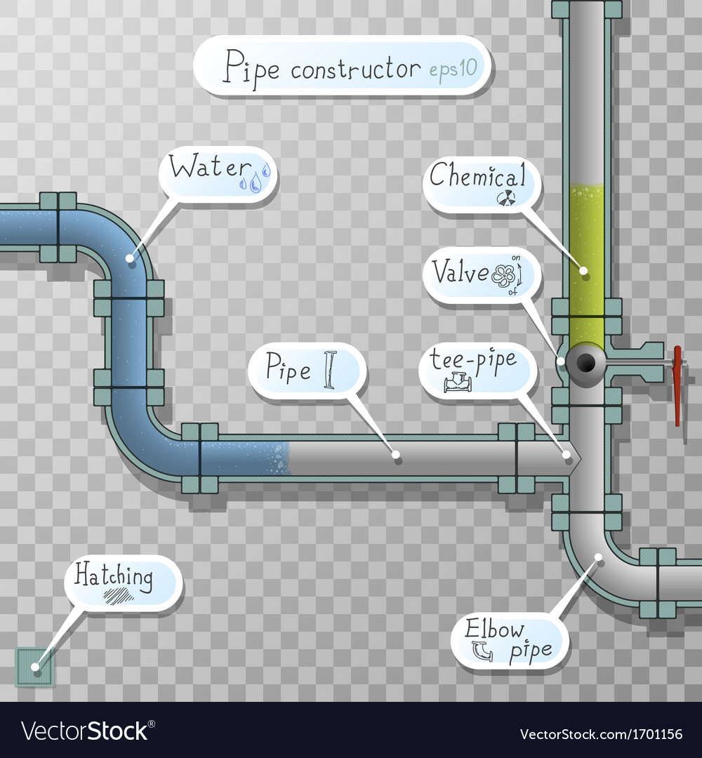 Unusual download bar with fluid in the pipes vector | Price: 1 Credit (USD $1)