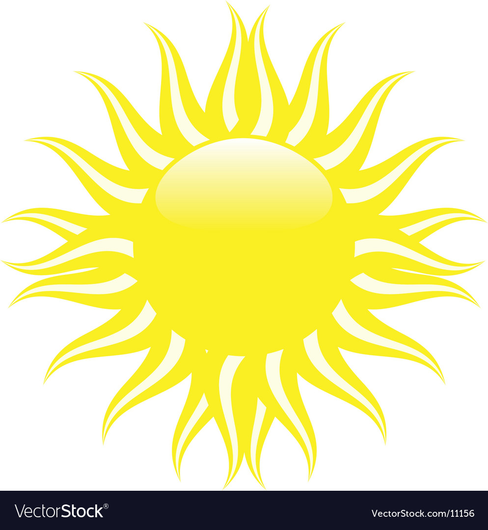 Yellow summer sun vector | Price: 1 Credit (USD $1)