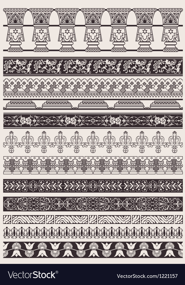 Big set of decorative border lines vector | Price: 1 Credit (USD $1)