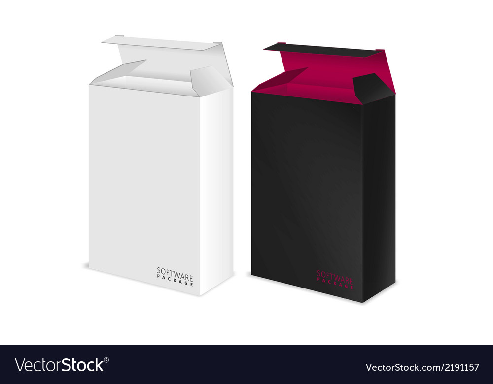 Box package vector | Price: 1 Credit (USD $1)