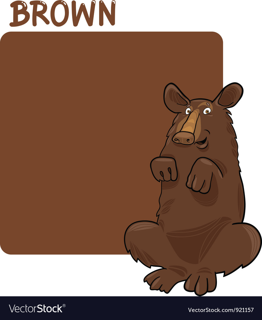 Color brown and bear cartoon vector | Price: 1 Credit (USD $1)