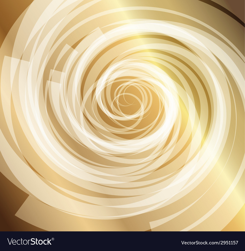 Gold whirlpool background vector | Price: 1 Credit (USD $1)
