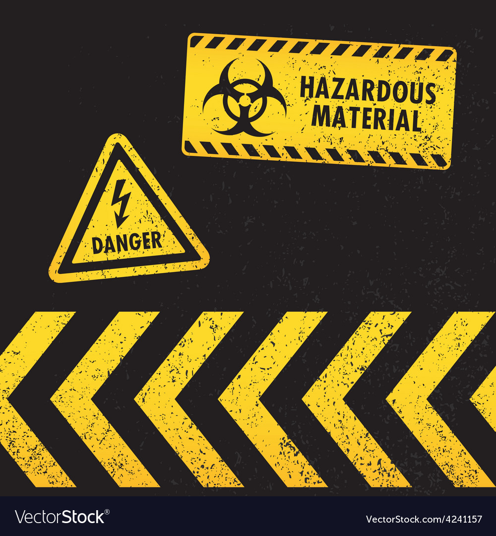 Grunge hazard warning vector | Price: 1 Credit (USD $1)