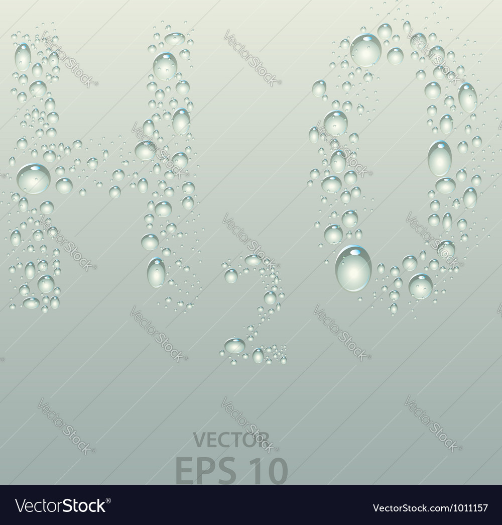 H2o wet droplets over glass vector | Price:  Credit (USD $)