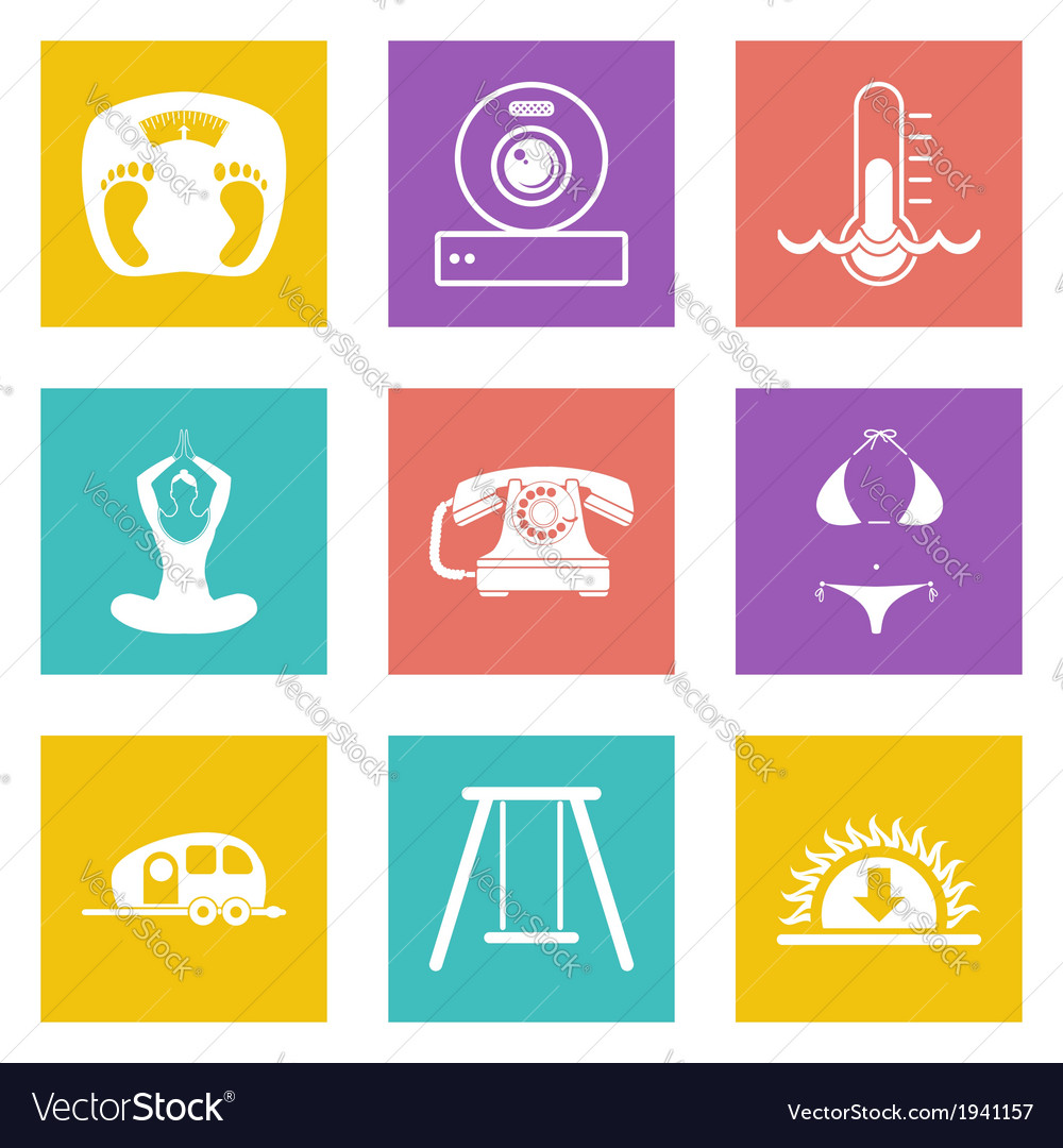 Icons for web design set 10 vector | Price: 1 Credit (USD $1)