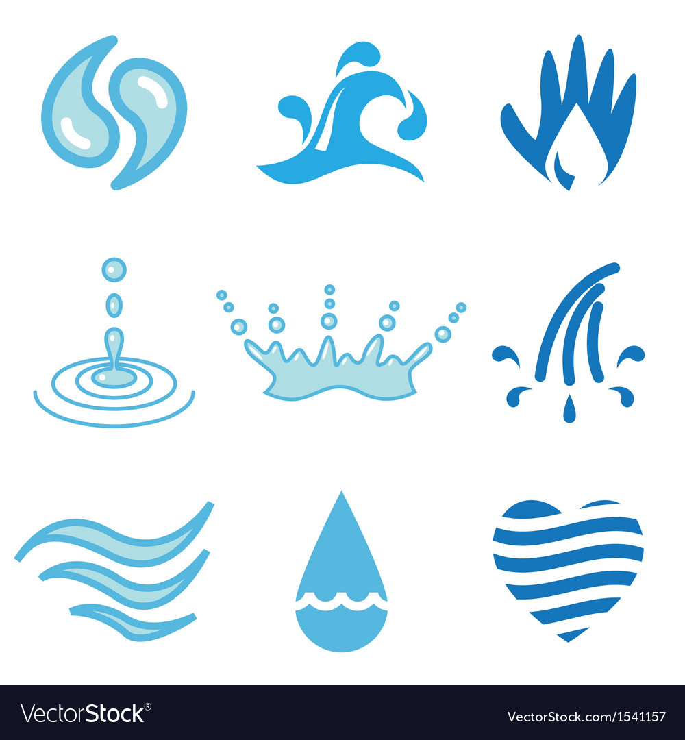 Logo icons water vector | Price: 1 Credit (USD $1)