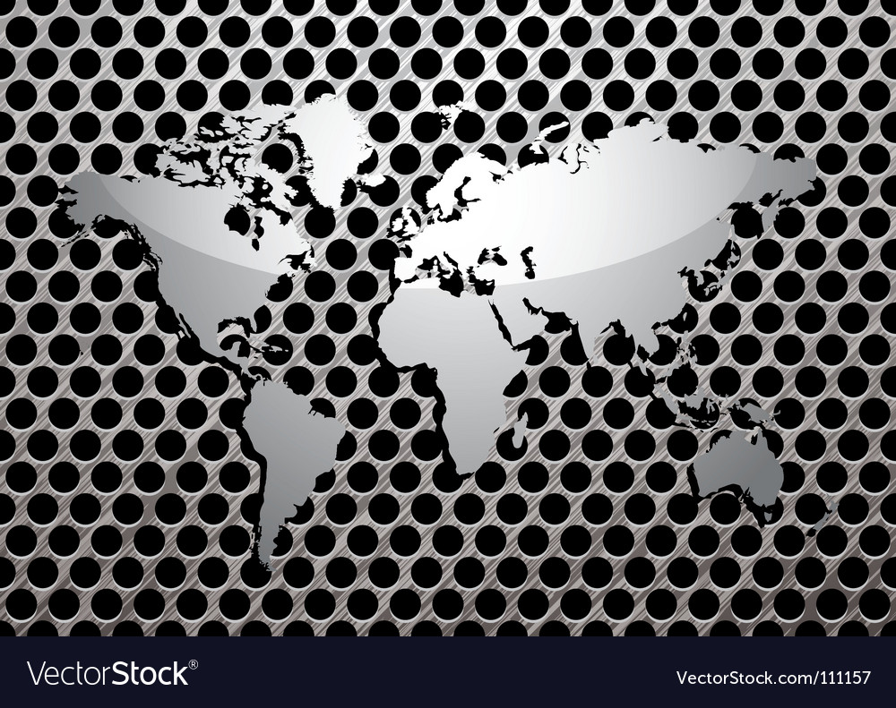 Metal grill world vector | Price: 1 Credit (USD $1)