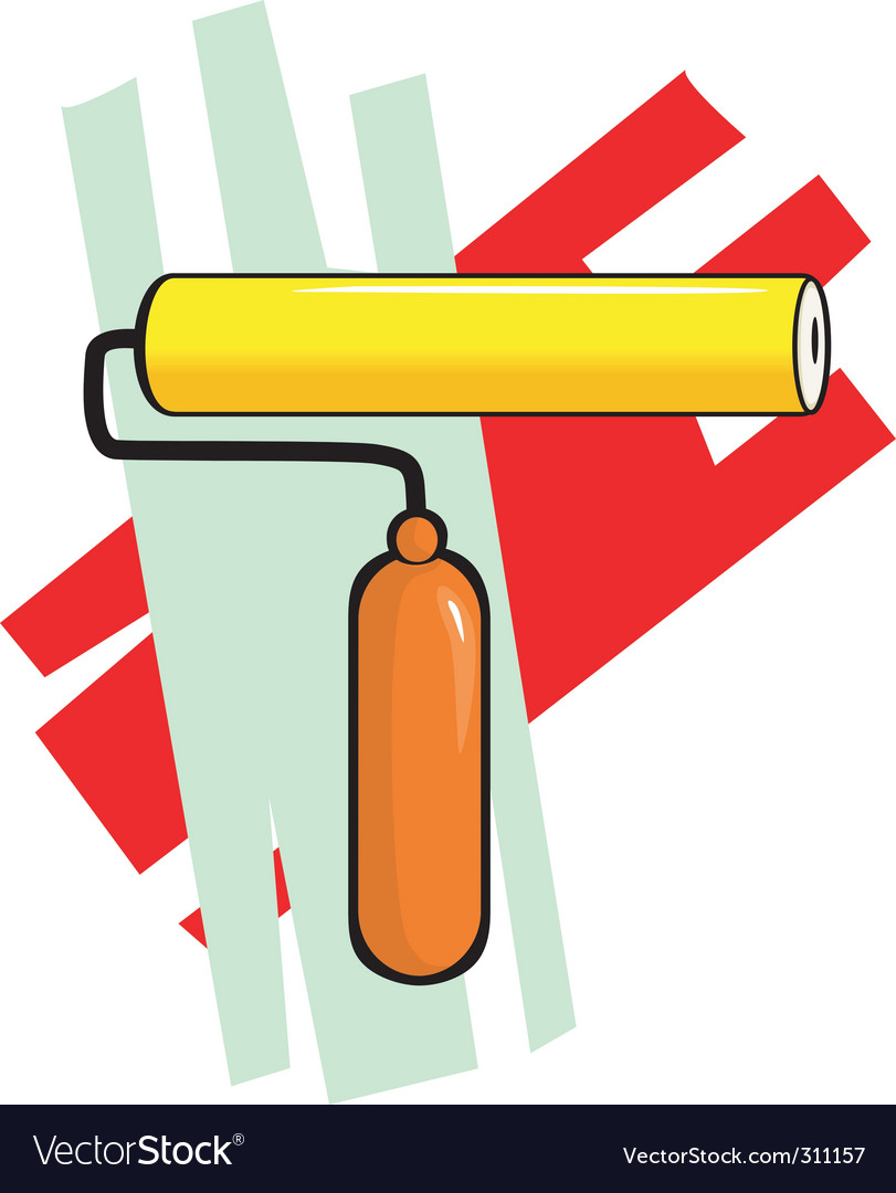 Painting roller vector | Price: 1 Credit (USD $1)