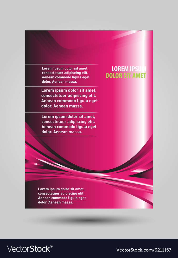 Pink brochure flyer template design vector | Price: 1 Credit (USD $1)