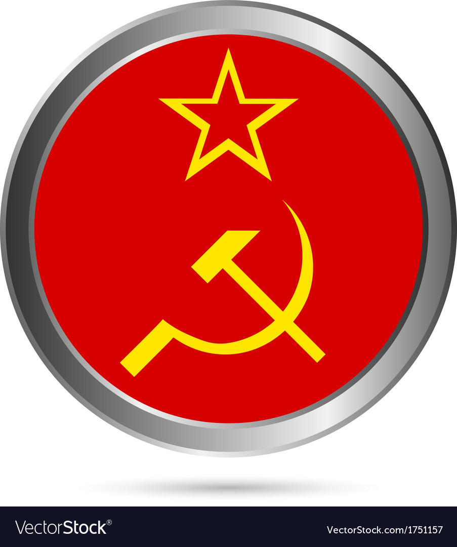 Ussr flag button vector | Price: 1 Credit (USD $1)