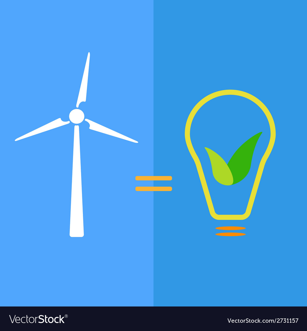 Wind turbine as eco-friendly source of energy vector | Price: 1 Credit (USD $1)