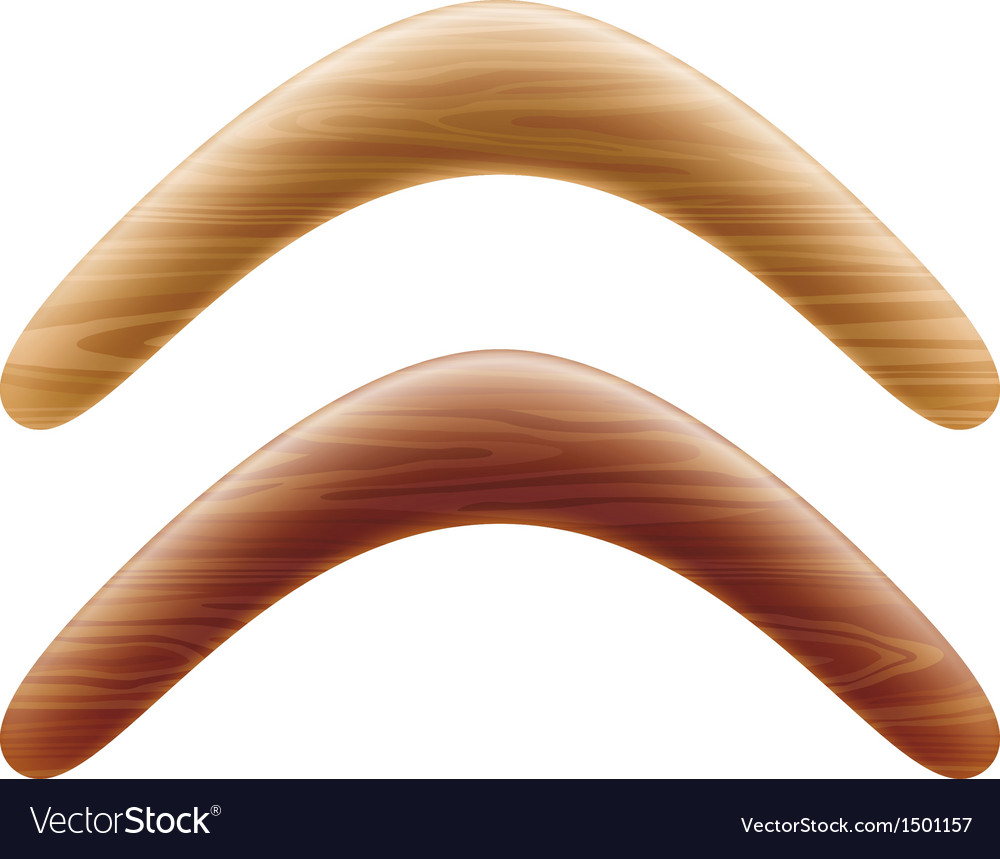 Wooden boomerang vector | Price: 1 Credit (USD $1)