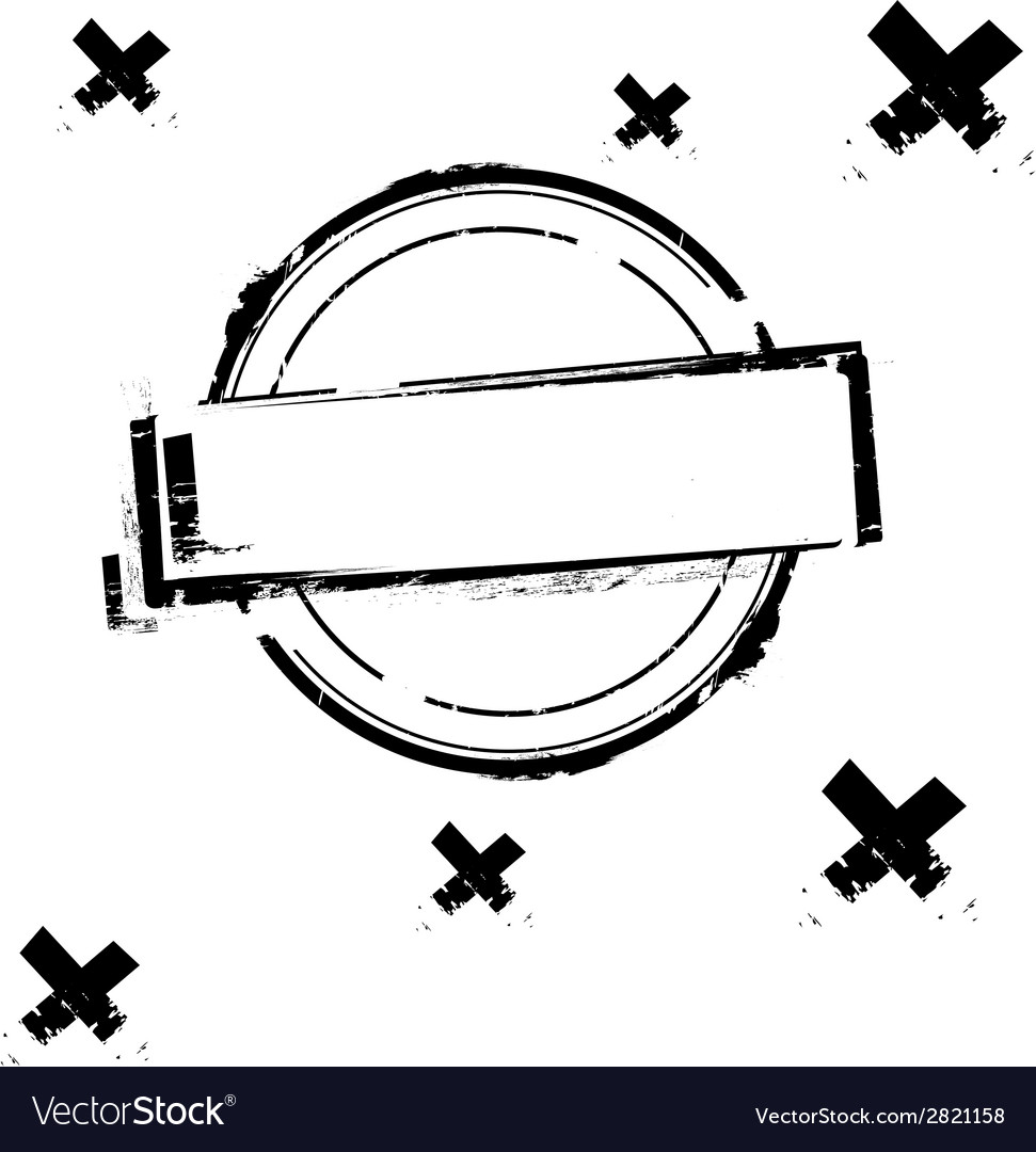 Black rubber stamp on white vector | Price: 1 Credit (USD $1)