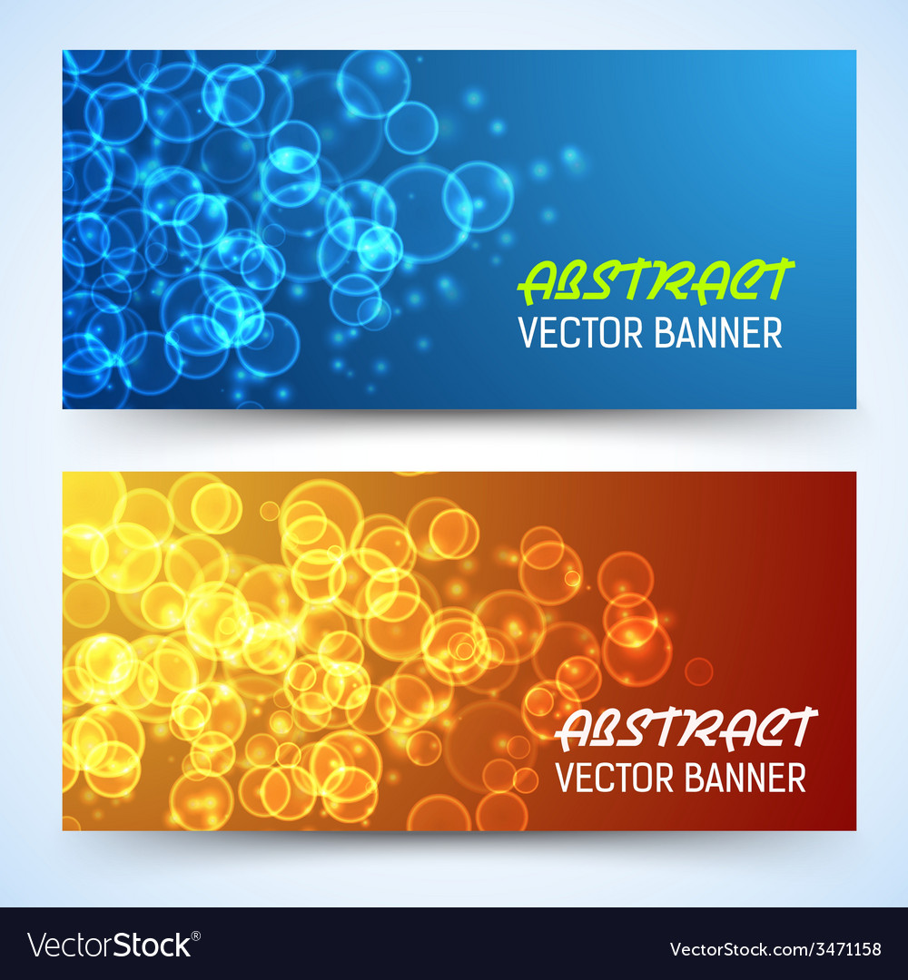 Bokeh banner background vector | Price: 1 Credit (USD $1)