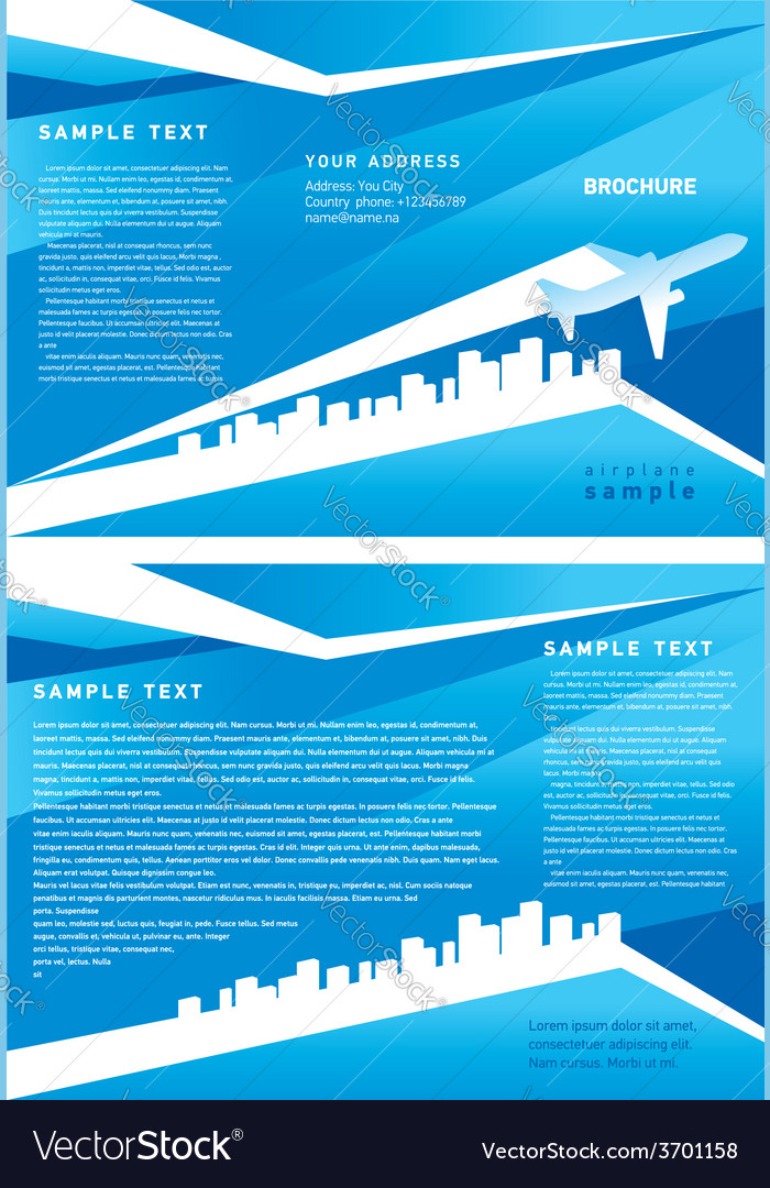 Brochure airplane vector | Price: 1 Credit (USD $1)