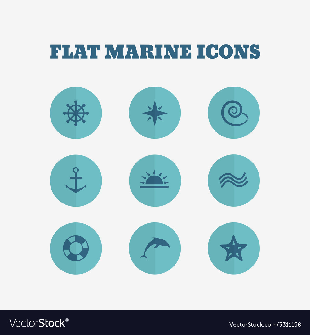 Flat icons collection vector | Price: 1 Credit (USD $1)