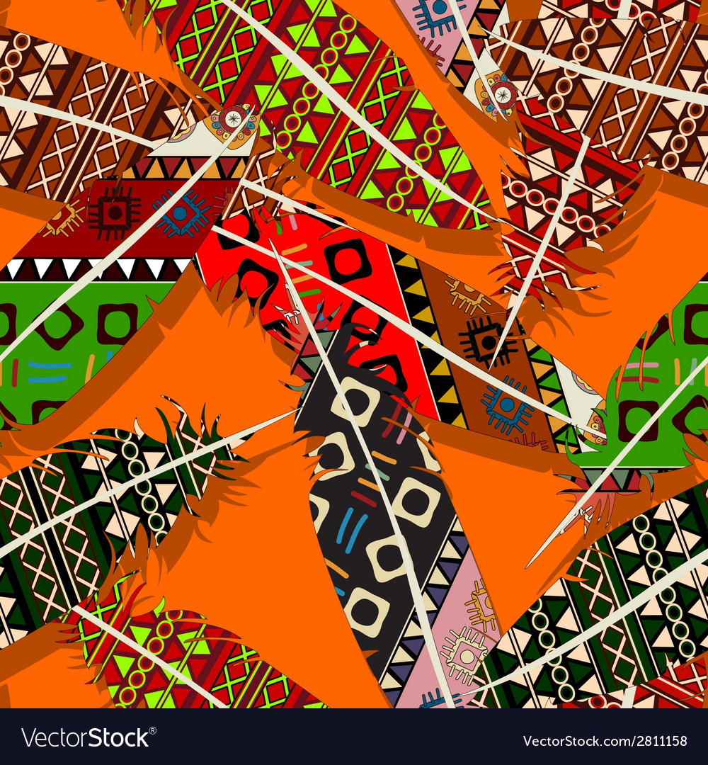 Ikat feather pattern 7 vector | Price: 1 Credit (USD $1)