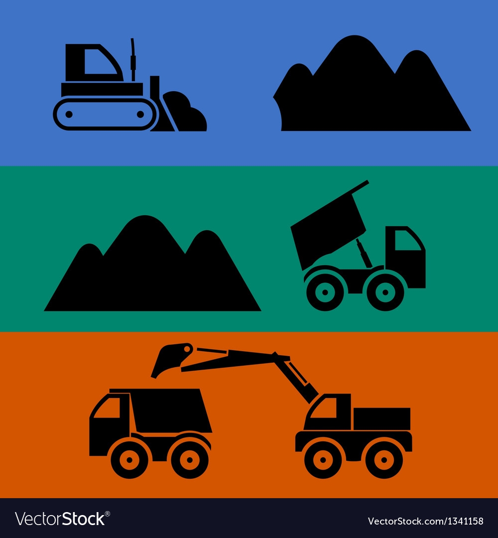 Mining and transportation of sand vector | Price: 1 Credit (USD $1)