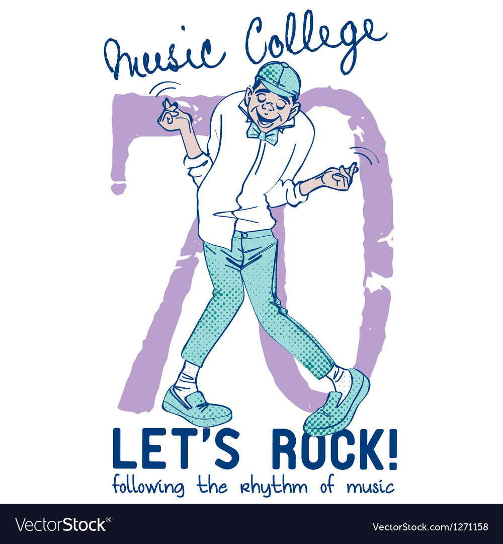 Music college vector | Price: 1 Credit (USD $1)