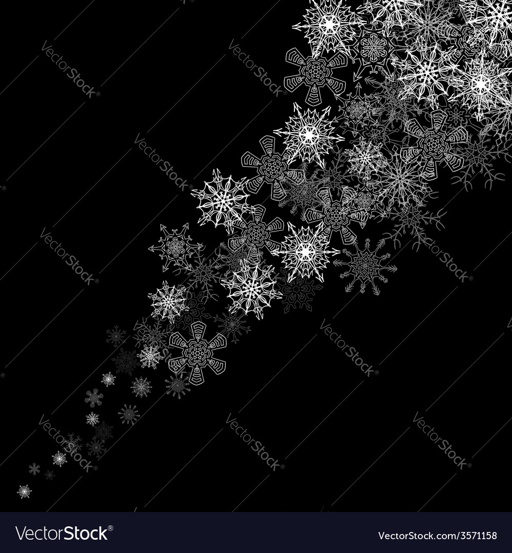 Snowflakes blizzard in the darkness vector | Price: 1 Credit (USD $1)