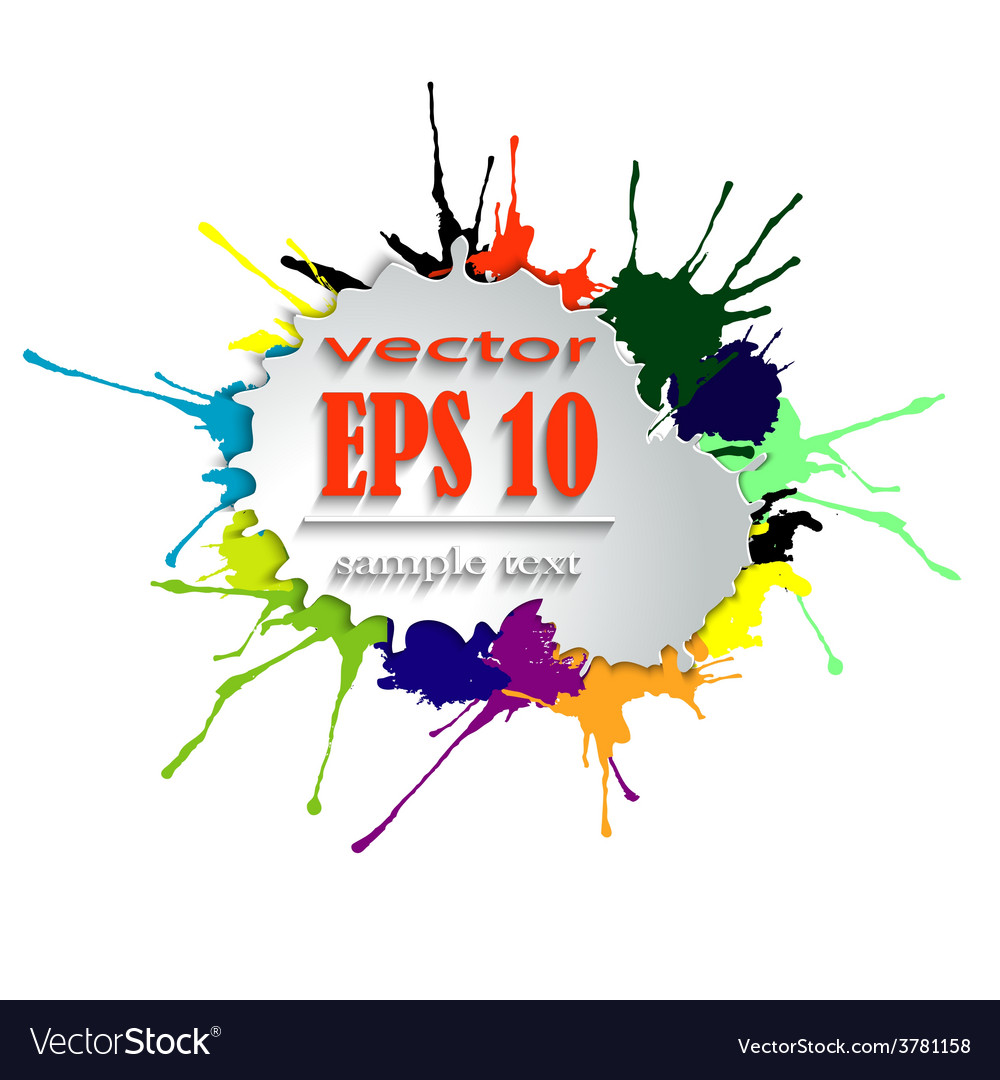 Splashes of bright paint vector   Price: 1 Credit (USD $1)