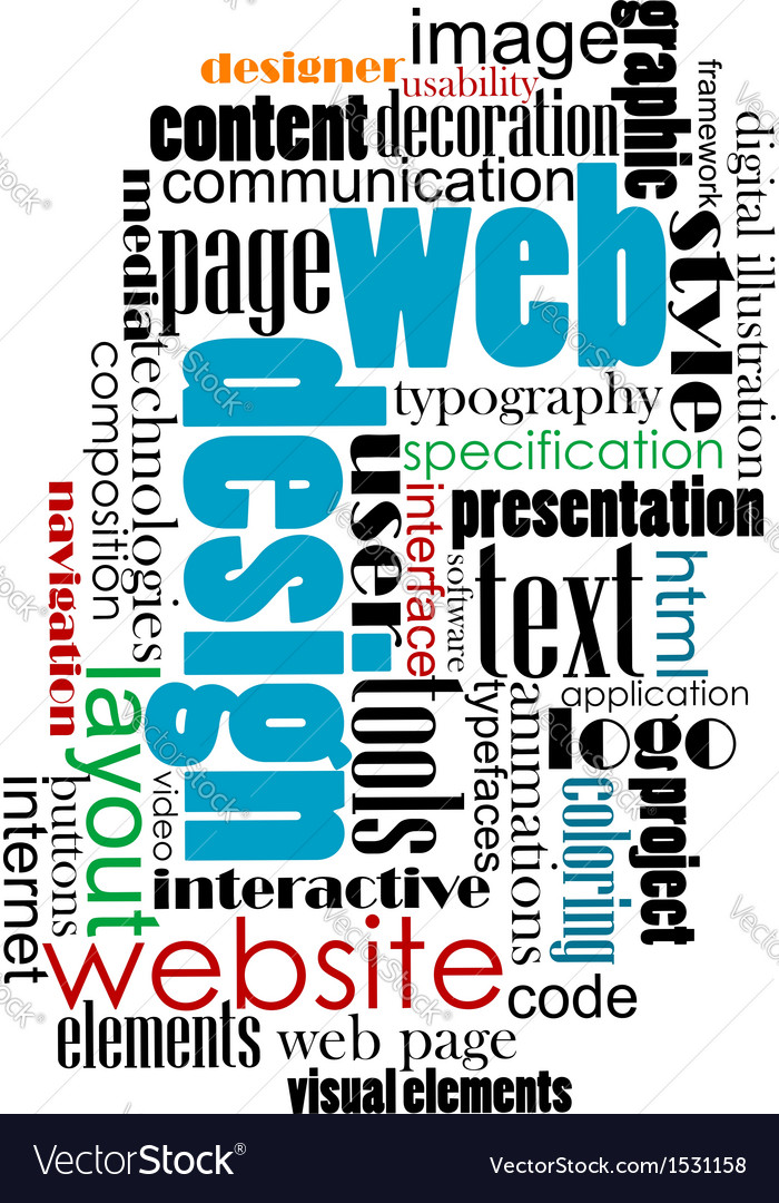 Tag cloud for web and internet design vector | Price: 1 Credit (USD $1)