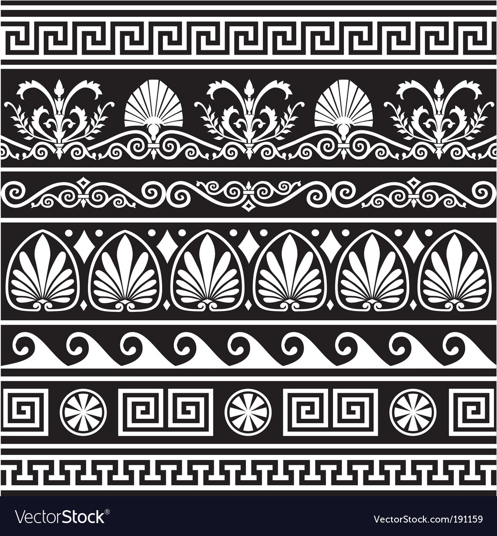 Antique greek border vector | Price: 1 Credit (USD $1)