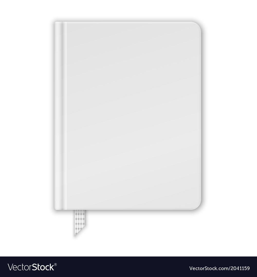 Blank white book or notebook template vector | Price: 1 Credit (USD $1)