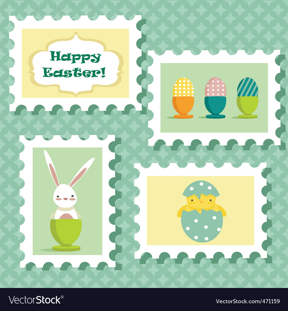 Easter stamp vector | Price: 1 Credit (USD $1)