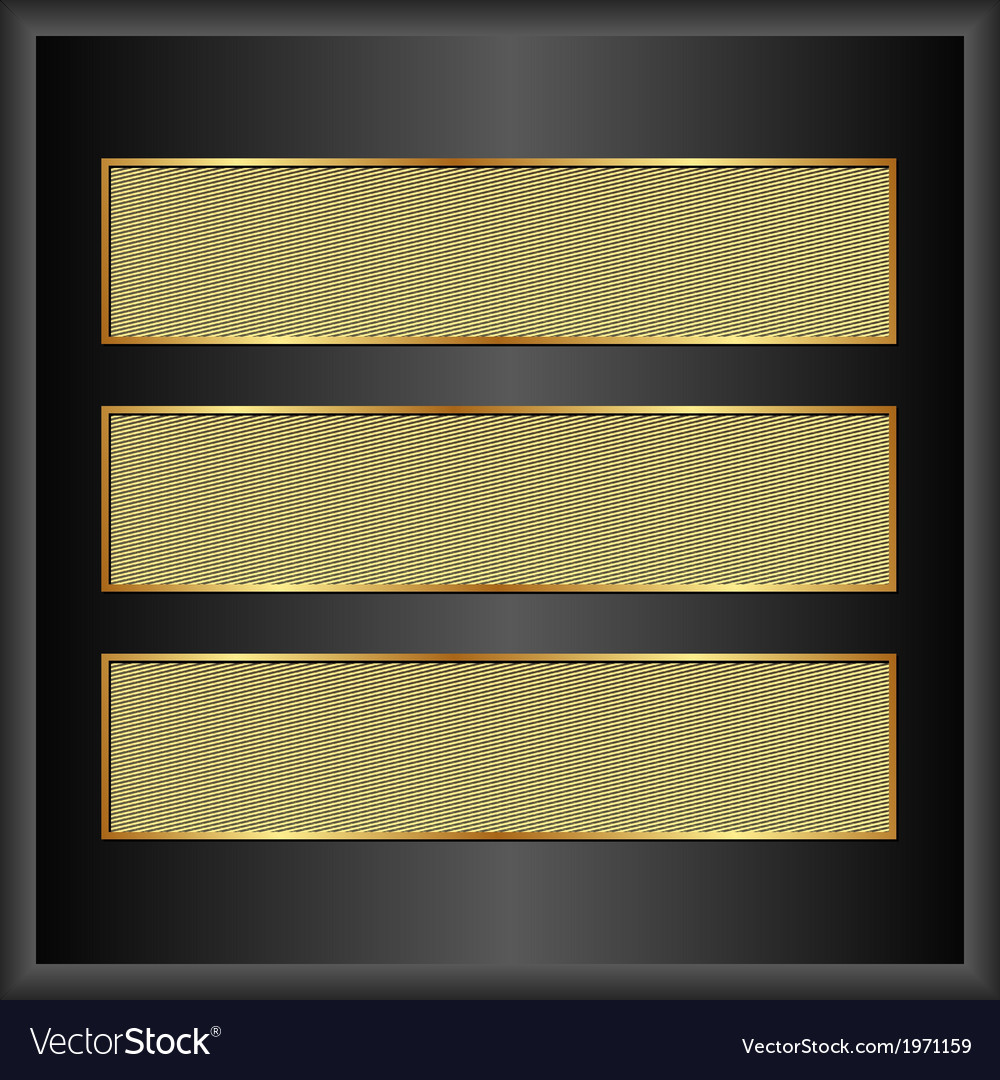 Golden banners vector | Price: 1 Credit (USD $1)