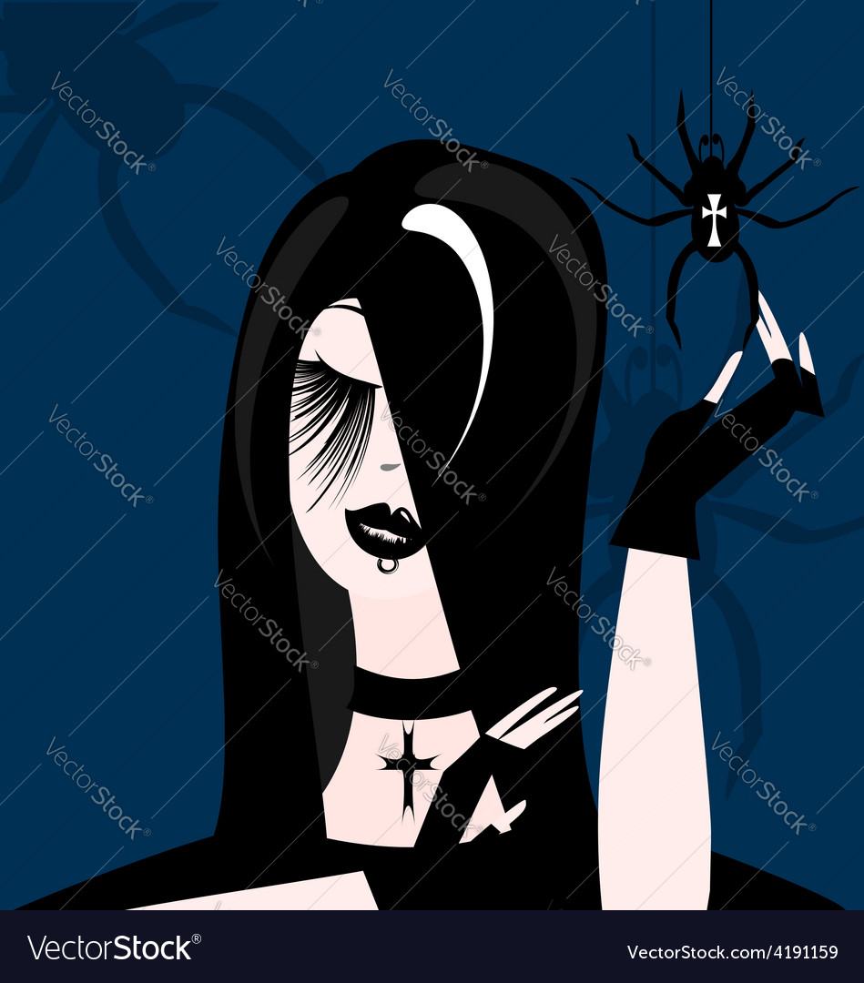 Gothic girl vector | Price: 1 Credit (USD $1)