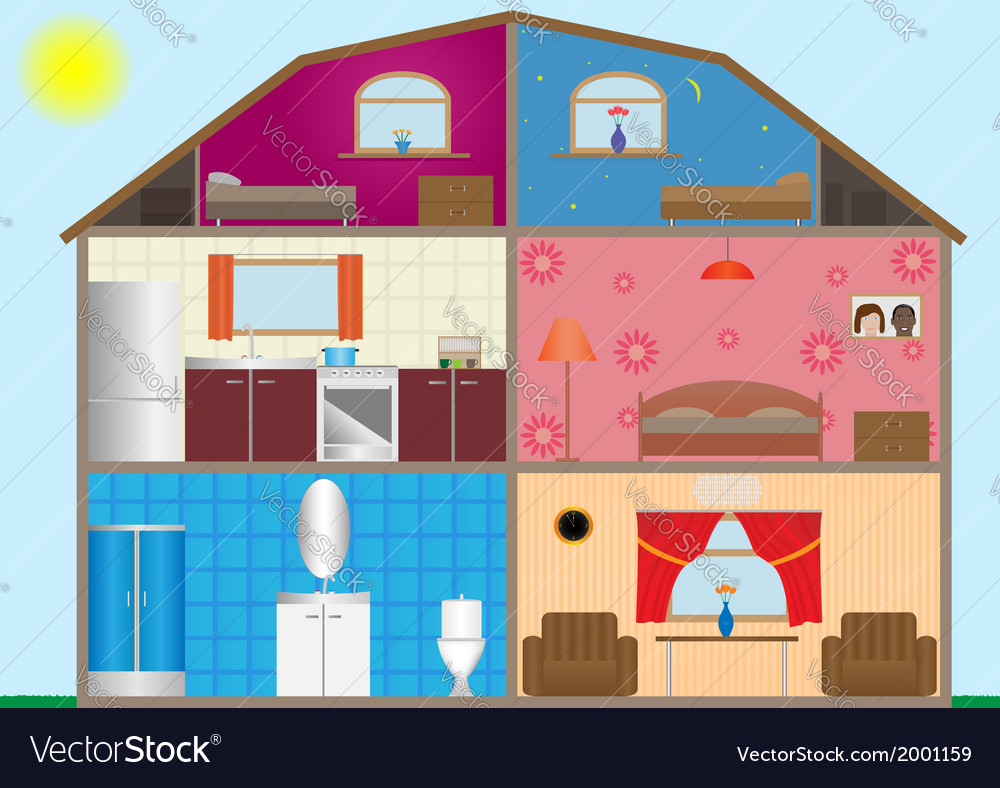 House interior vector | Price: 1 Credit (USD $1)