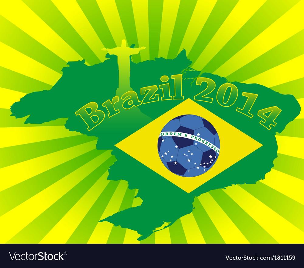 Inscription brazil in 2014 vector | Price: 1 Credit (USD $1)