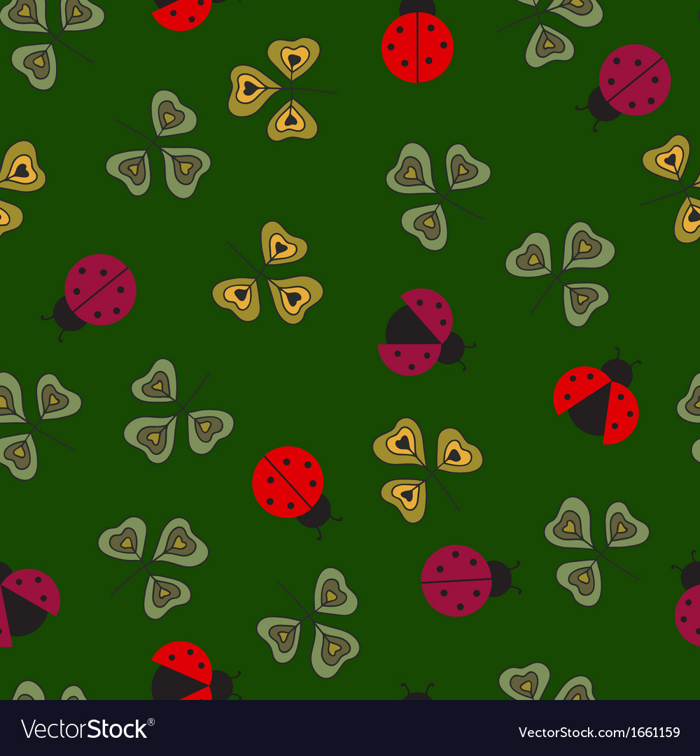 Ladybugs pattern vector | Price: 1 Credit (USD $1)