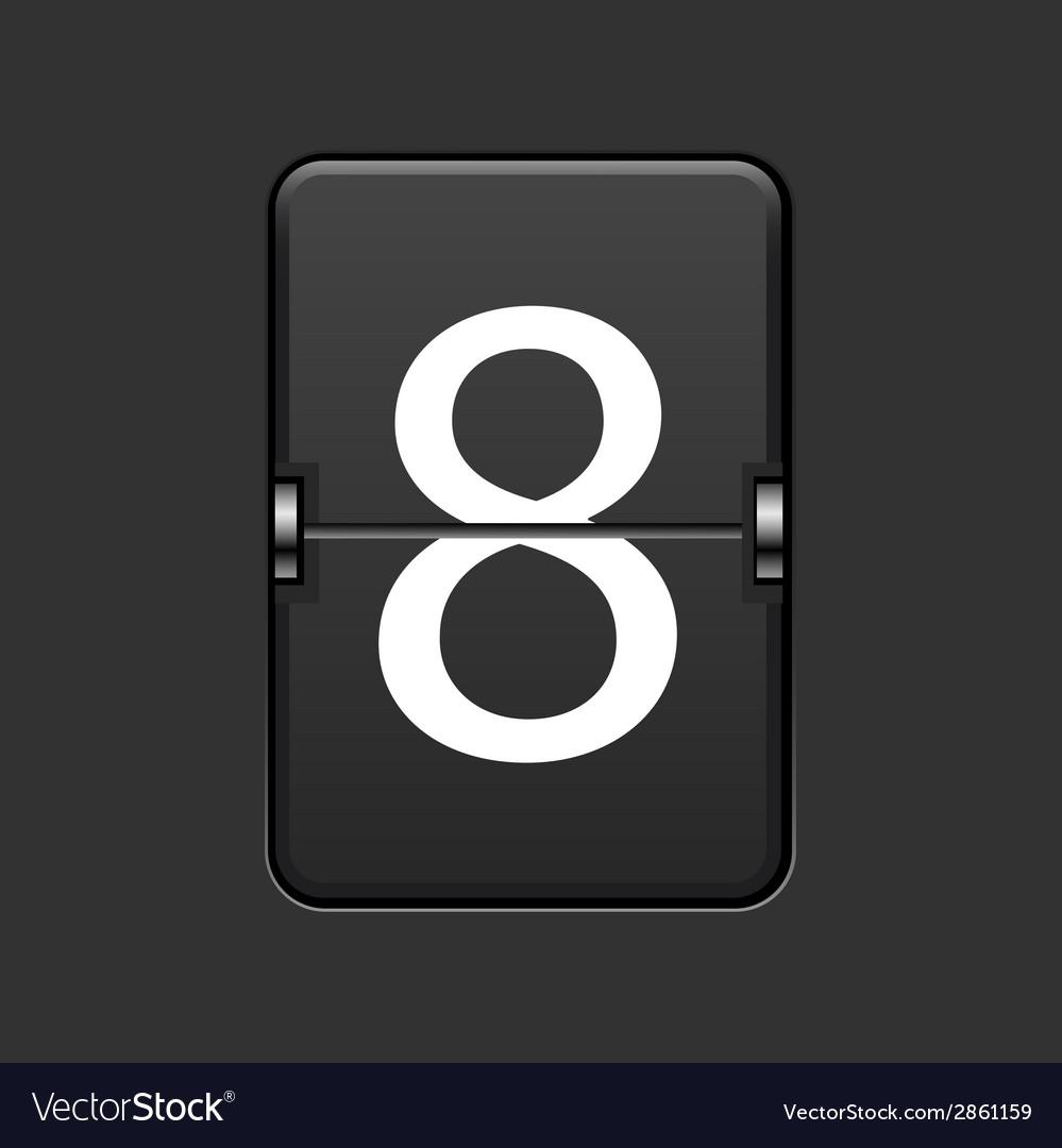 Modern numeric scoreboard vector | Price: 1 Credit (USD $1)
