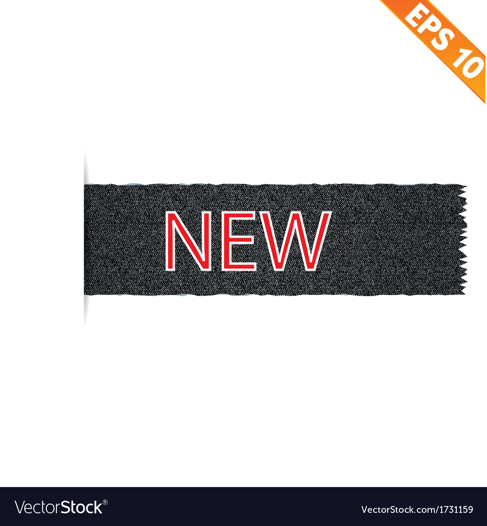 Realistic denim label and sale tag - vector | Price: 1 Credit (USD $1)