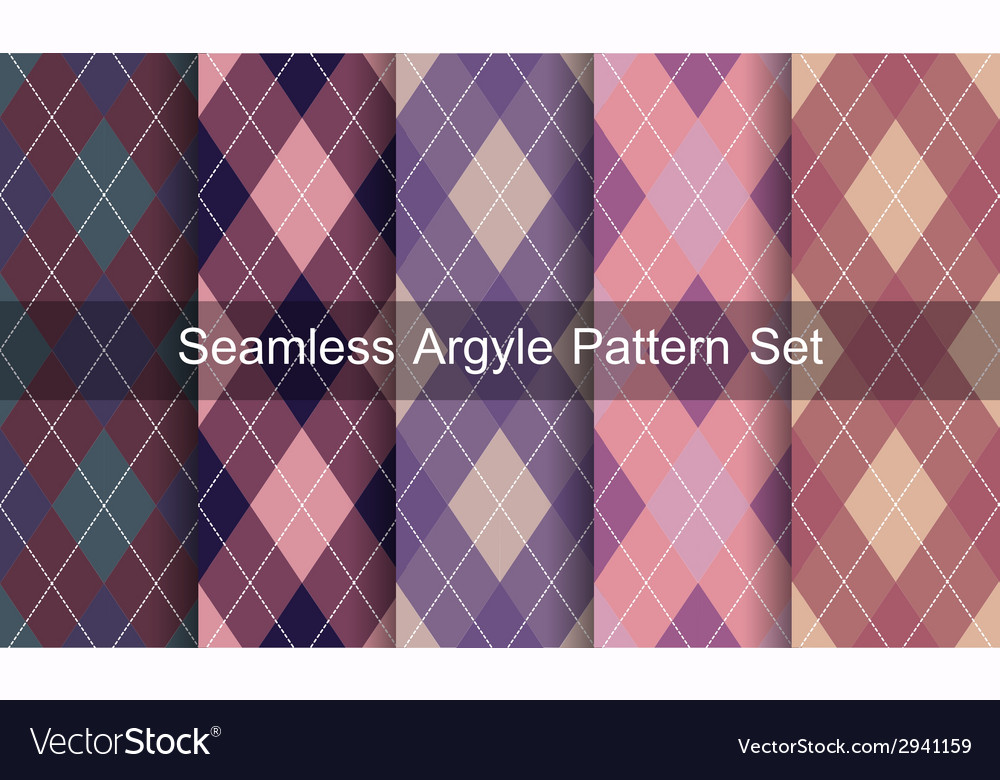 Seamless argyle pattern vector | Price: 1 Credit (USD $1)