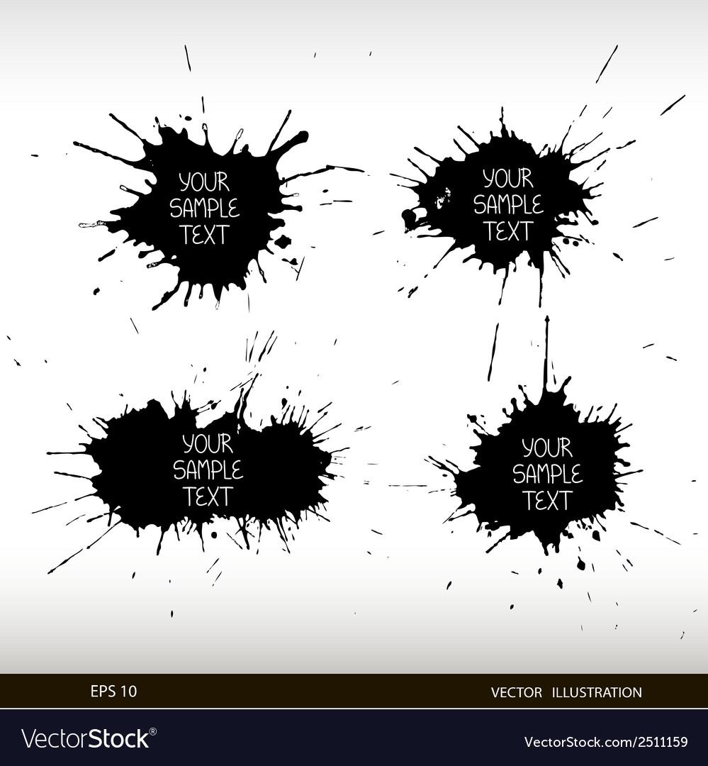 Set of grunge splashes grunge background vector | Price: 1 Credit (USD $1)