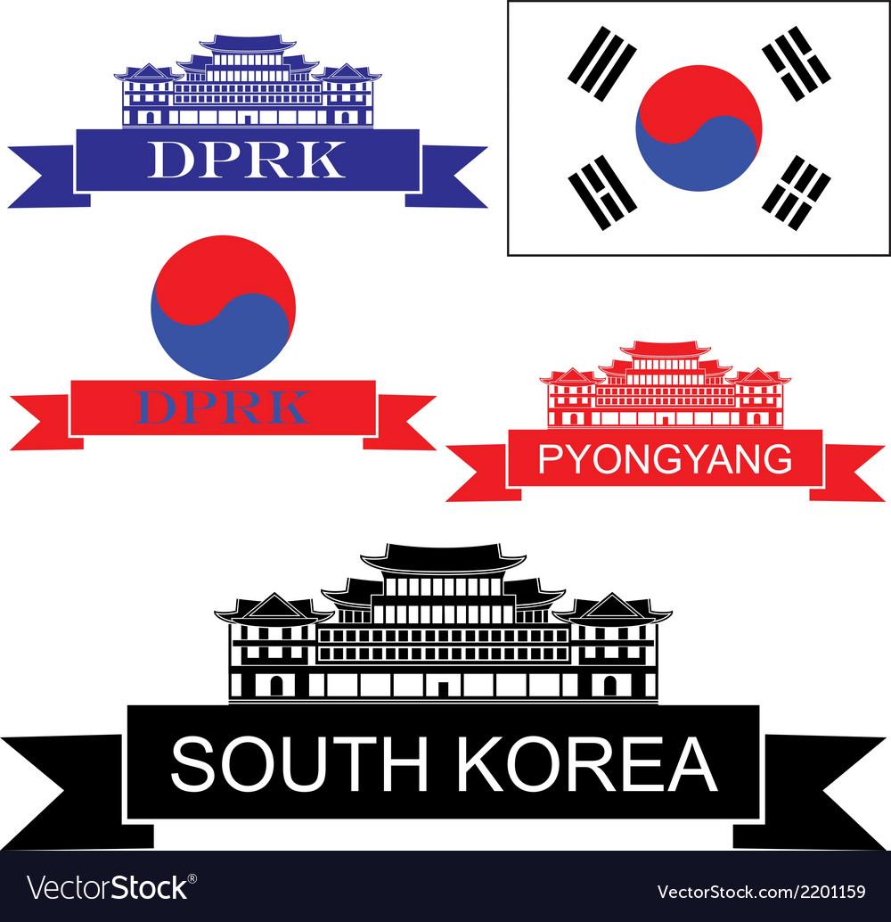 South korea vector | Price: 1 Credit (USD $1)