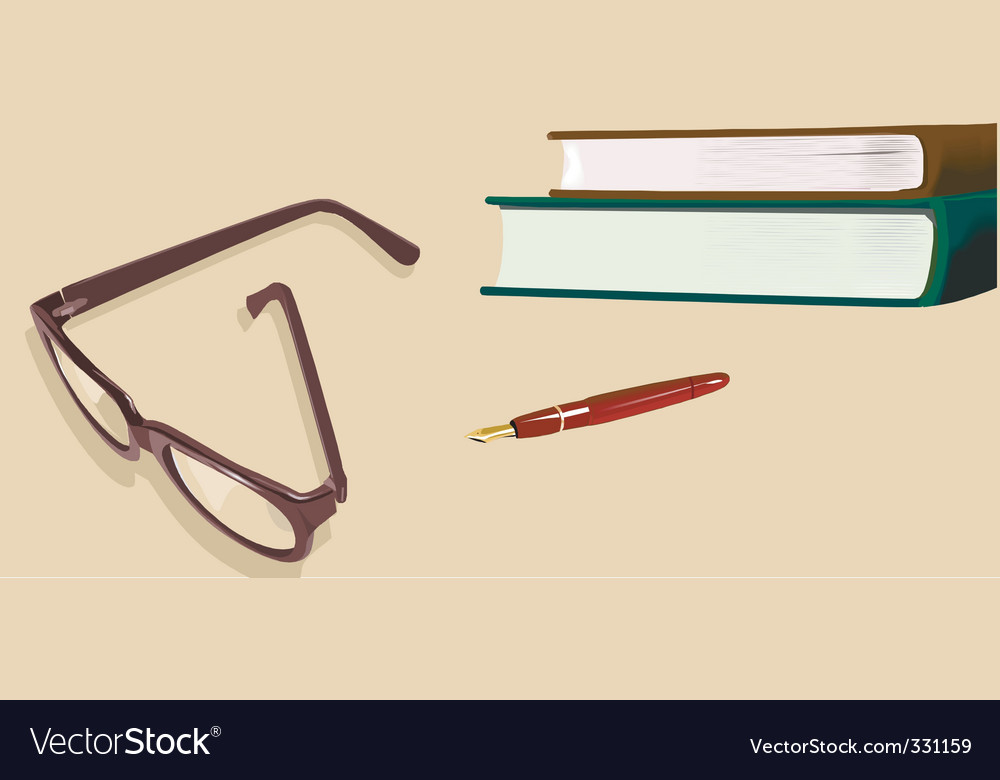 Spectacle and file vector | Price: 1 Credit (USD $1)