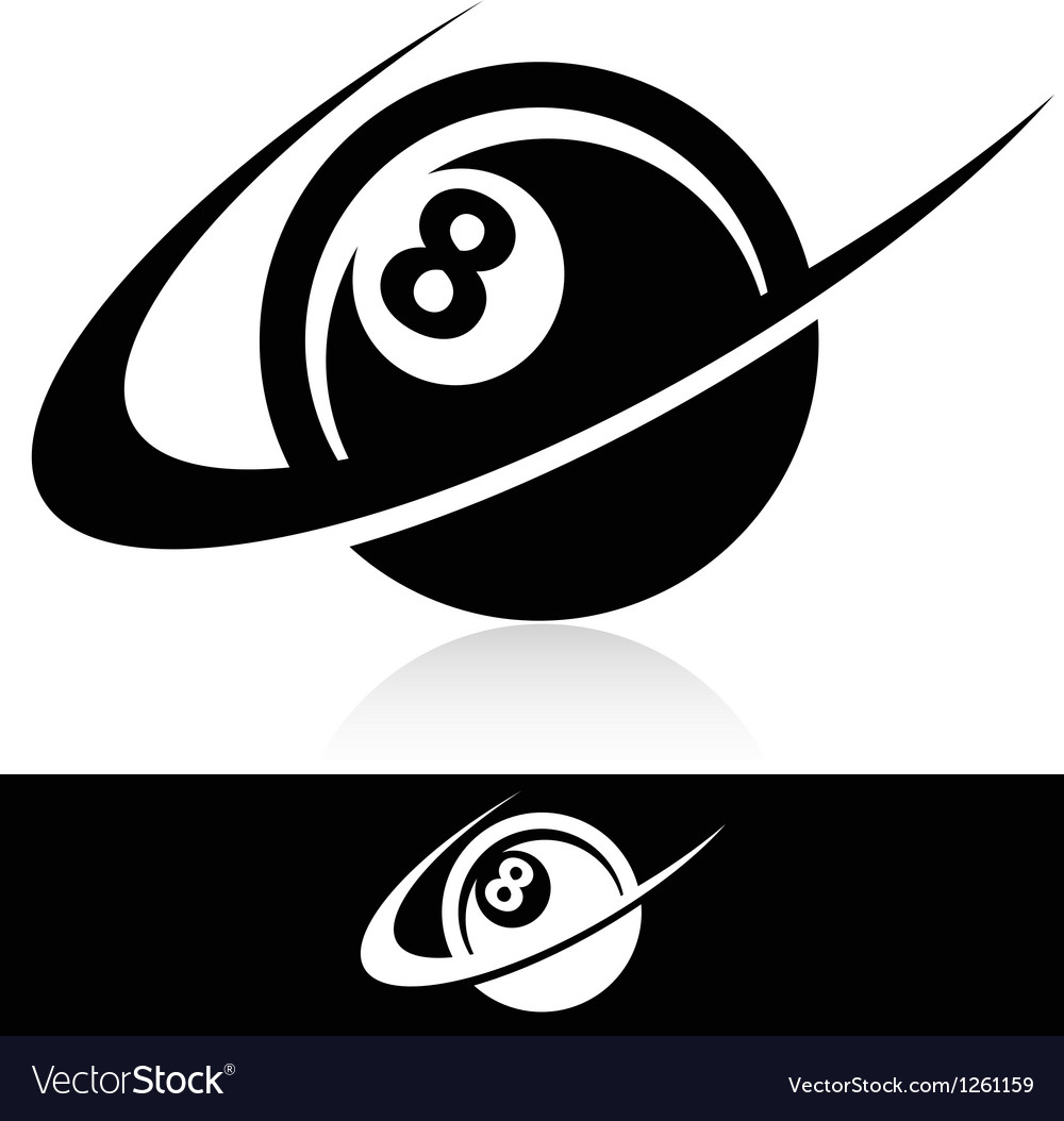 Swoosh eight ball logo icon vector | Price: 1 Credit (USD $1)
