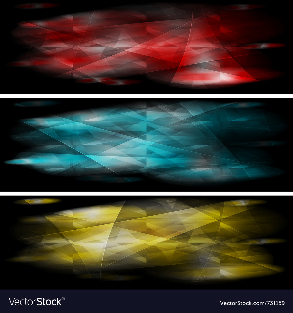 Vibrant banners collection vector | Price: 1 Credit (USD $1)