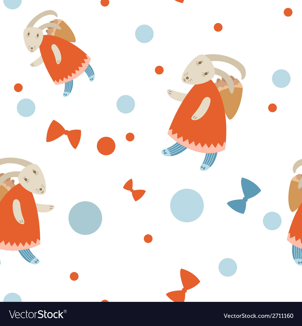 Bunny pattern vector | Price: 1 Credit (USD $1)