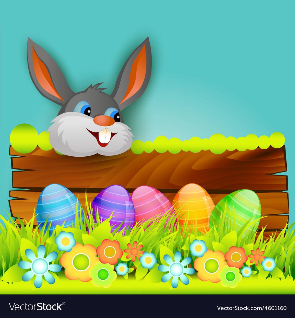 Easter background design vector | Price: 1 Credit (USD $1)