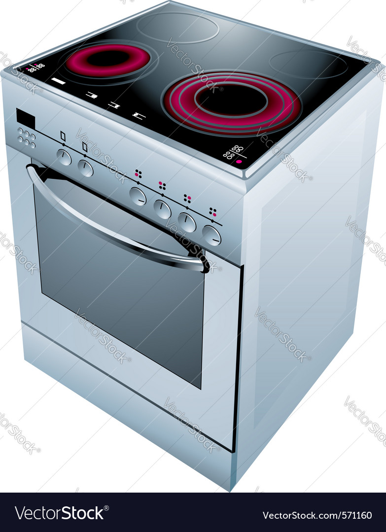 Electric cooker oven vector | Price: 1 Credit (USD $1)