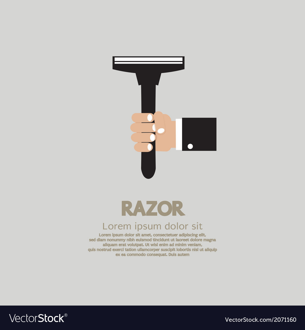Hand holding a razor vector | Price: 1 Credit (USD $1)