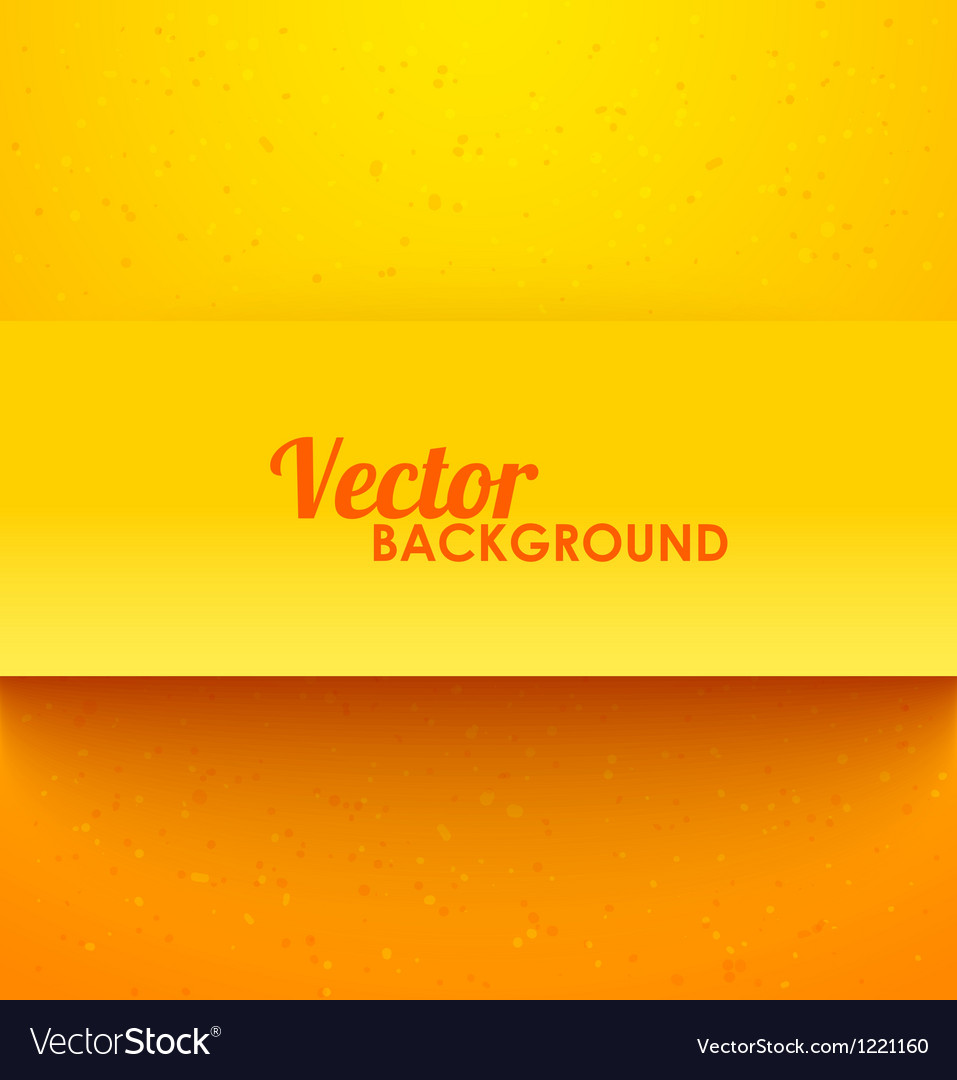 Paper orange rectangle banner with drop shadows vector | Price: 1 Credit (USD $1)