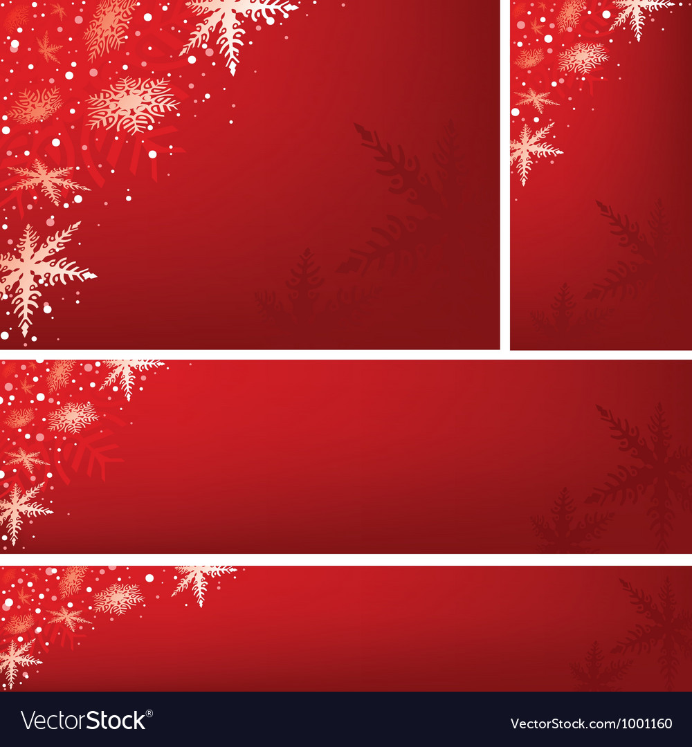 Red xmas banners vector | Price: 1 Credit (USD $1)
