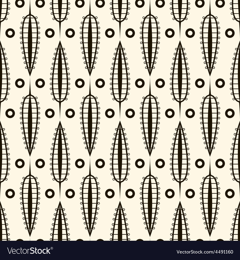 Seamless pattern with retro ornamental elements vector | Price: 1 Credit (USD $1)