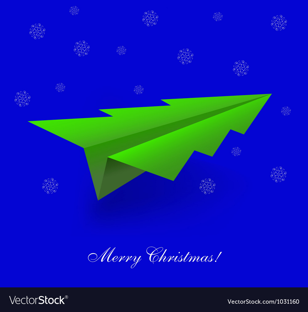 Tree shaped paper plane vector | Price: 1 Credit (USD $1)